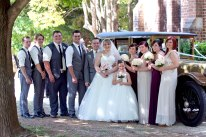 The whole bridal party