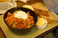 Mmmmmm.... veggie chilli with gluten free bread