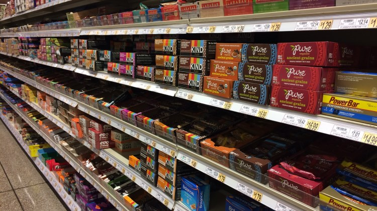 nutrition bars aisle