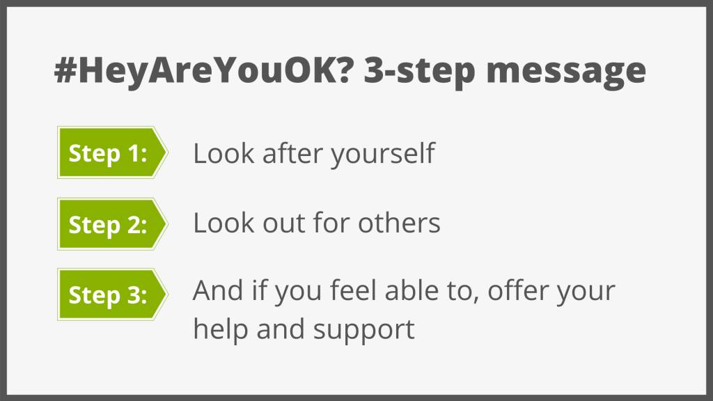 HeyAreYouOK? Campaign - 3 Step Message