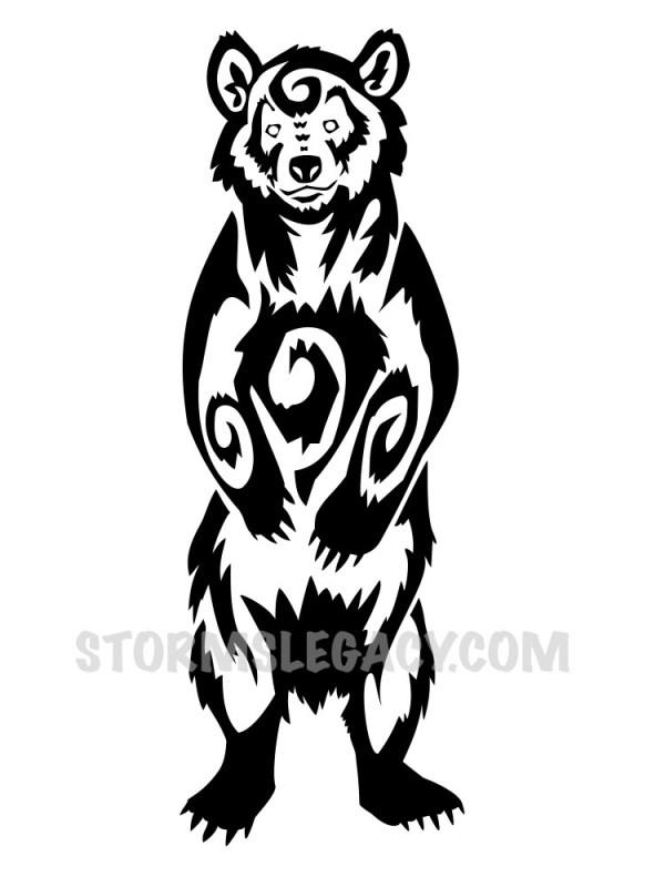 blackwork bear design