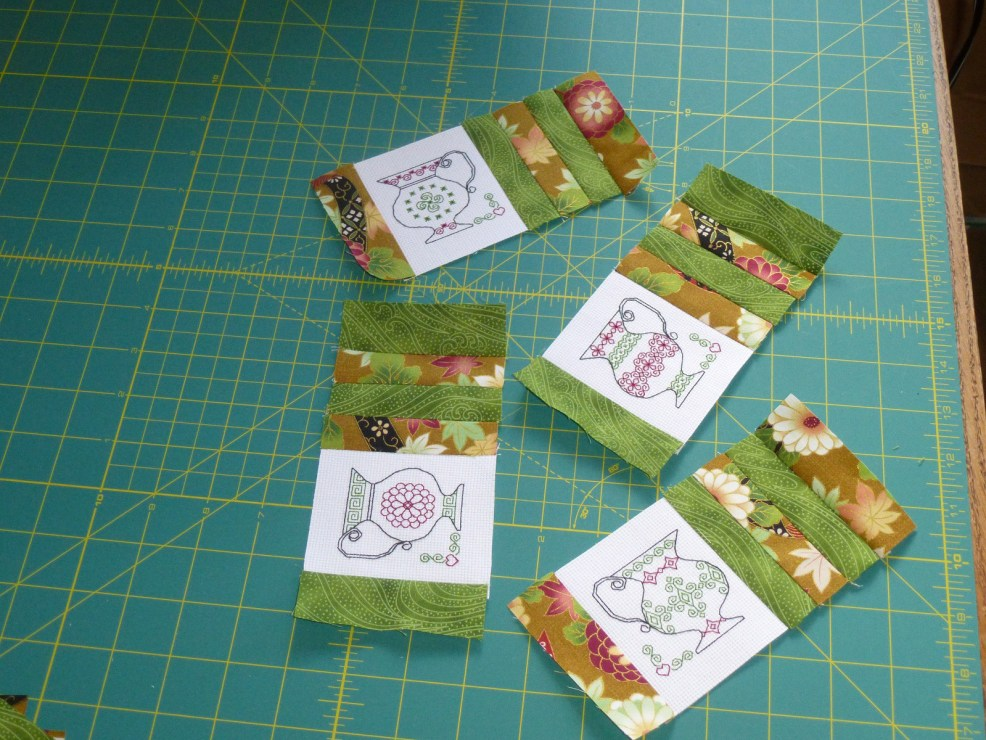 Continue sewing strips