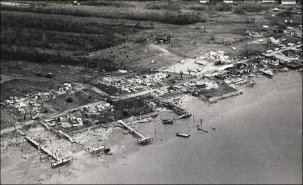 Webber's Waterfront Restaurant, just across the Michigan border on the Lost Peninsula, was destroyed.