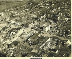 More than 90% of downtown Russiaville was destroyed, with several buildings leveled to the ground.