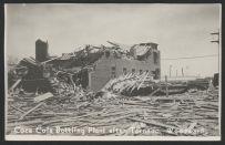 The severely damaged Coke bottling plant.