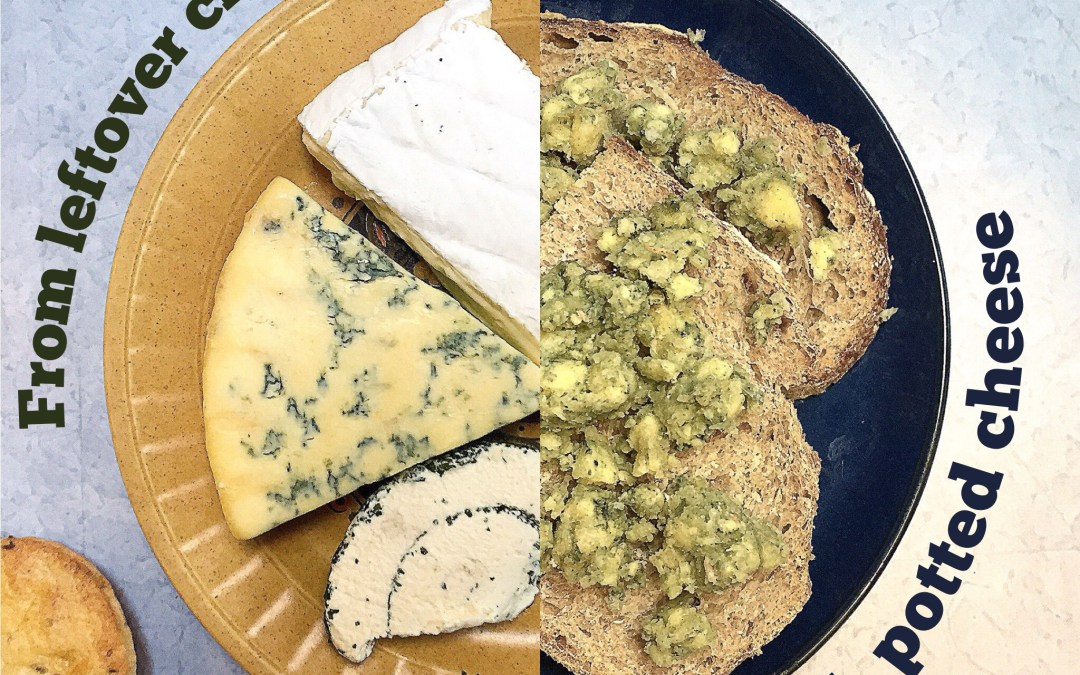 (Scraggy) cheeseboard end potted cheese