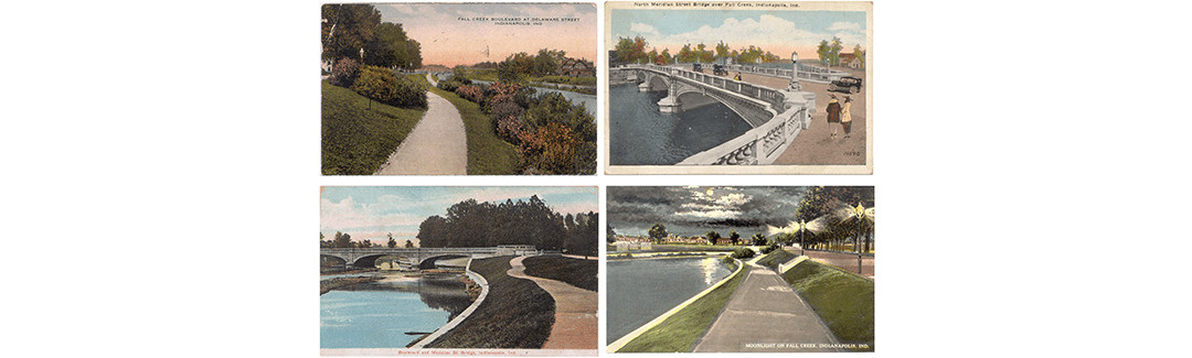 Historic Postcards of the Proposed Park and Boulevard System of Indianapolis, Indiana