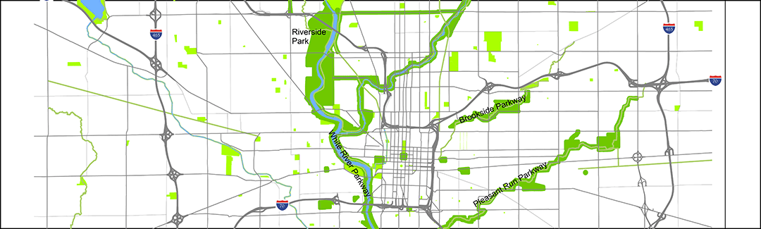 Map of the Indianapolis Historic Park and Boulevard System