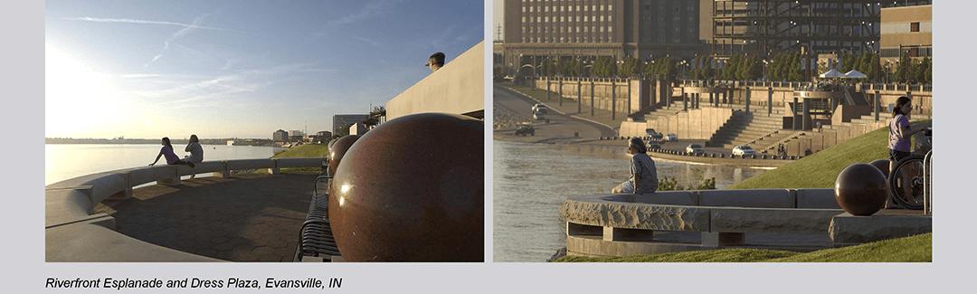 Evansville Riverfront Esplanade and Dress Plaza Overlooks