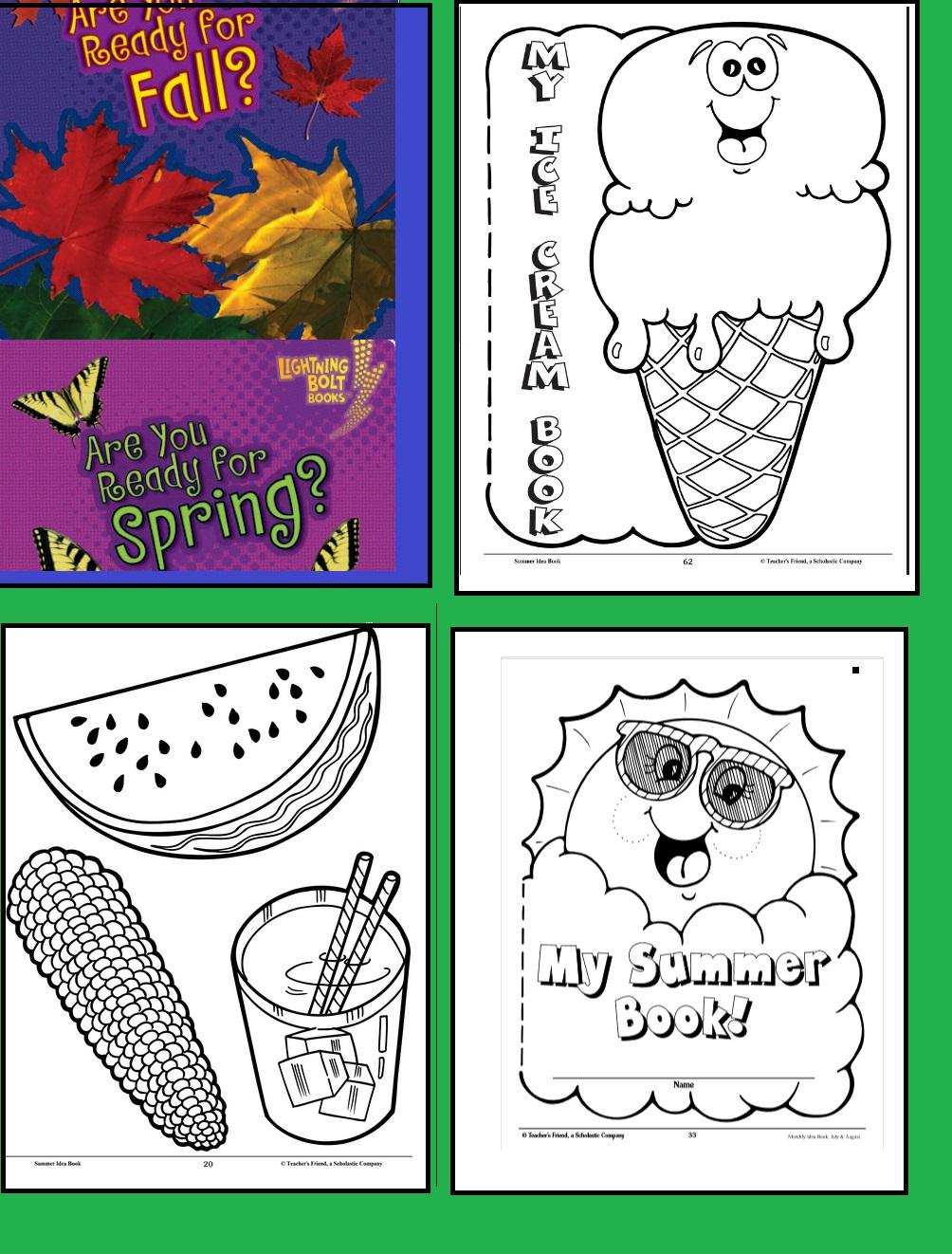 انشطة للاطفال عن فصول السنة ستوري زون Four Seasons Activity