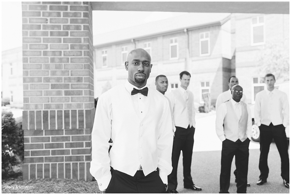 The groomsmen hanging out before the ceremony