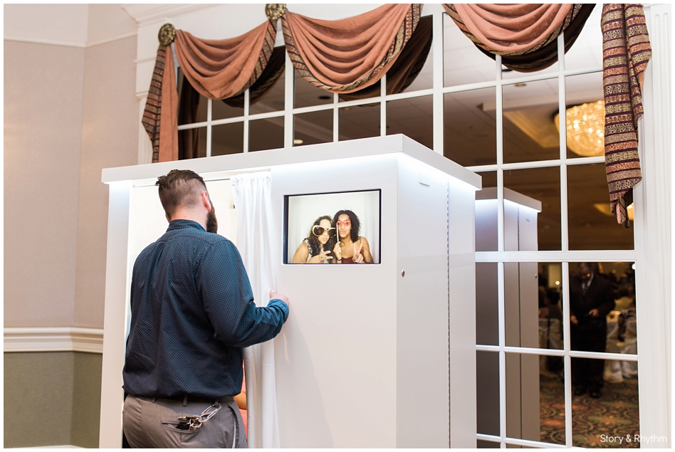 Triad Photo Booths setup at the reception