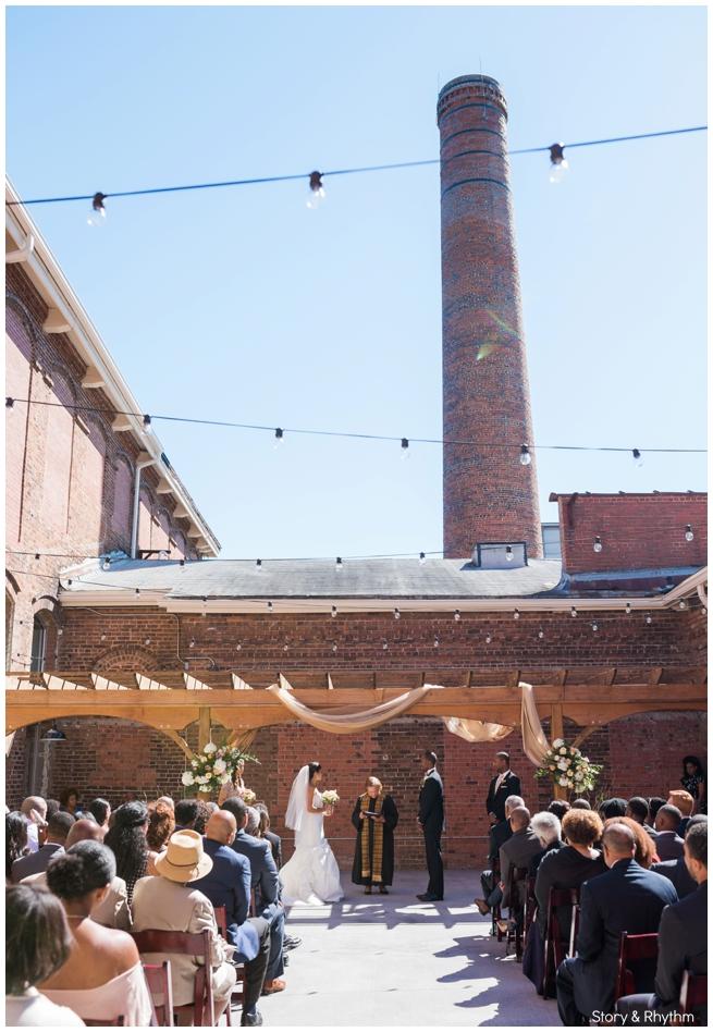Wedding at The Cloth Mill at Eno River