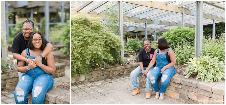 Engagement photos at JC Raulston Arboretum
