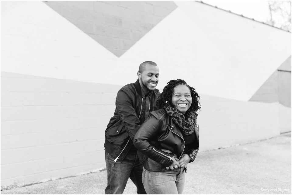 Lifestyle engagement photos in Maryland