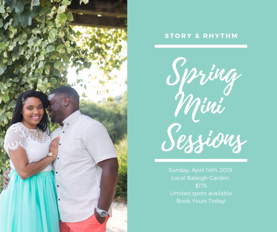 Spring mini sessions in Raleigh NC