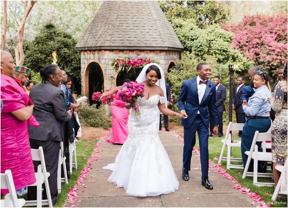 Bride and groom photos at Barclay Villa