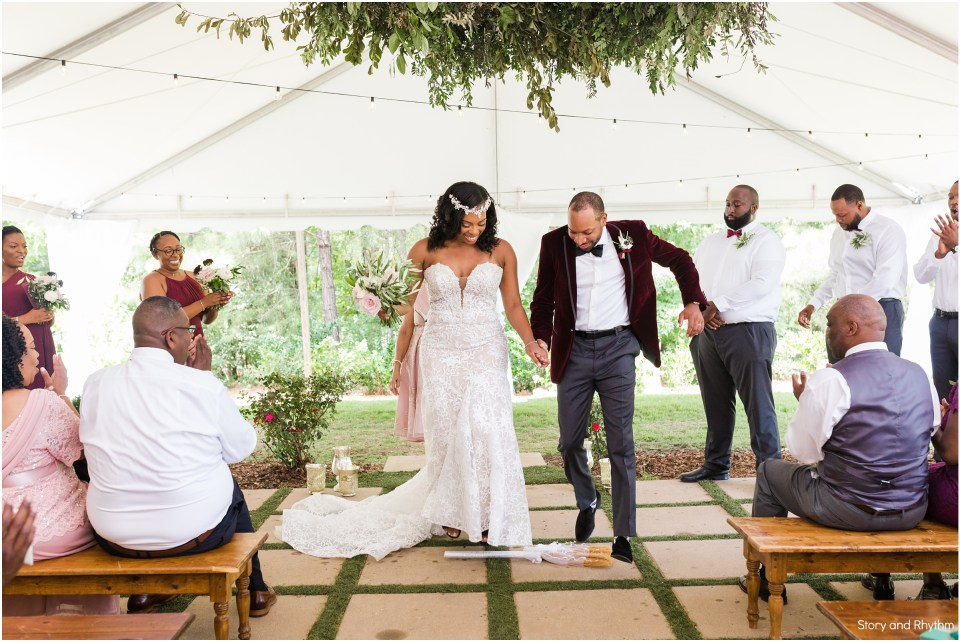 African American wedding at The Bradford North Carolina