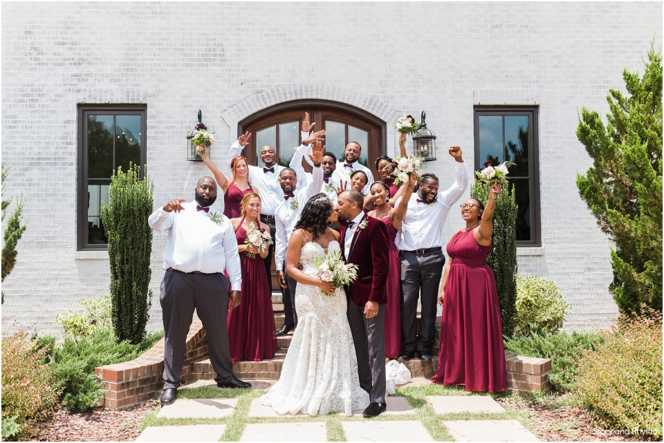 Bridal party photos at The Bradford in New Hill, NC