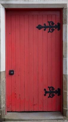 Simple Red Door