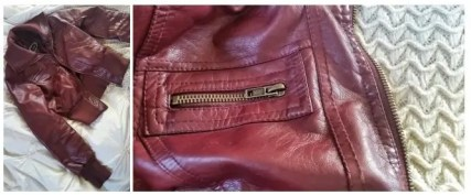 Deep Red Leather Jacket
