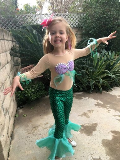 Ariel Girls' Costume on Etsy by UCCostumes