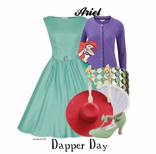 Ariel Dapper Day Disneybound Outfit on Polyvore by Amarie104