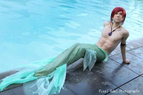 Ariel Gender-Bent on Facebook by Niq Cosplay