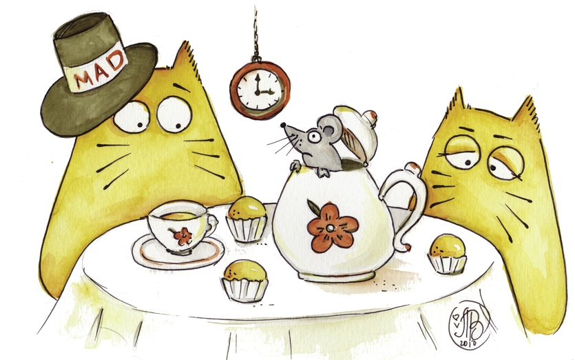 Mad Cat Tea Party By Cat Alogue On Storybird
