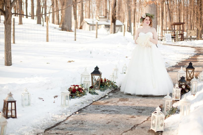 Rustic Chic Outdoor Winter Wedding Kensington Park Michigan