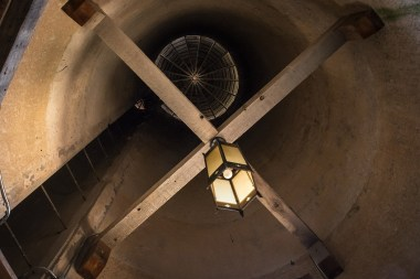 View looking up inside the Silo at Storybook Barn, Missouri