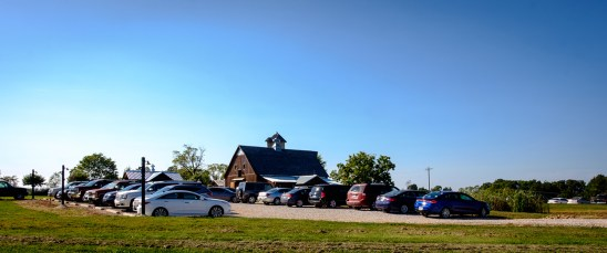 Open house at Storybook Barn and the parking lot is starting to fill up. Image credit: Gary Allman