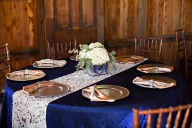 Table place settings on show at the Storybook Barn Open House. Image credit: Erica Turner, Turner Creative