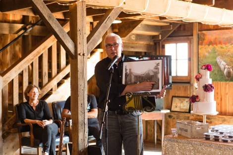 Open House at Storybook Barn, stories of the barn\'s history from author and owner Bill Jefferson. Image credit: Erica Turner, Turner Creative