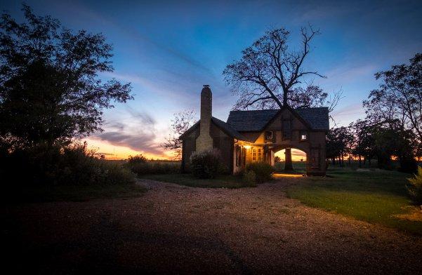 Writer's Cottage at Sunset. Image credit: Gary Allman