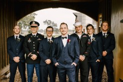 Groom and Groomsmen at Storybook Barn, Missouri