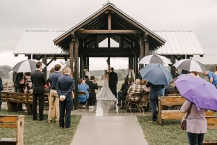 Wedding ceremony at Storybook Barn, Missouri
