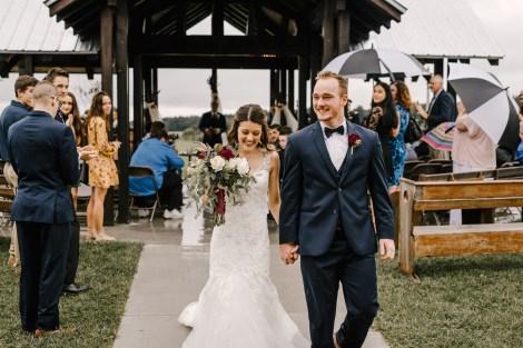 Bride and Groom at Storybook Barn, Missouri