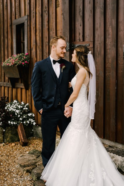 Bride and Groom at Storybook Barn, Missouri