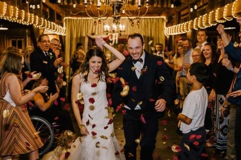 Newly weds at Storybook Barn, Missouri