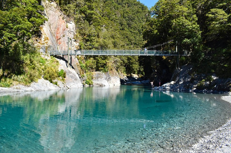 The Blue Pools at Haast Pass