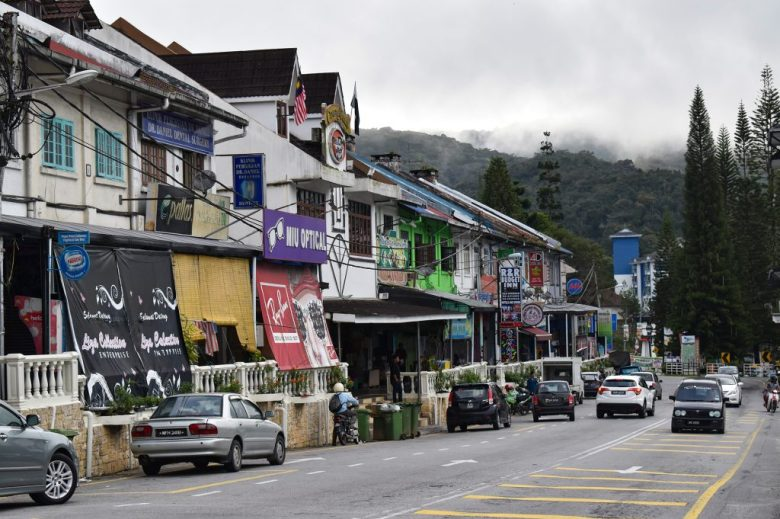 The main street of Tanah Rata, Cameron Highlands