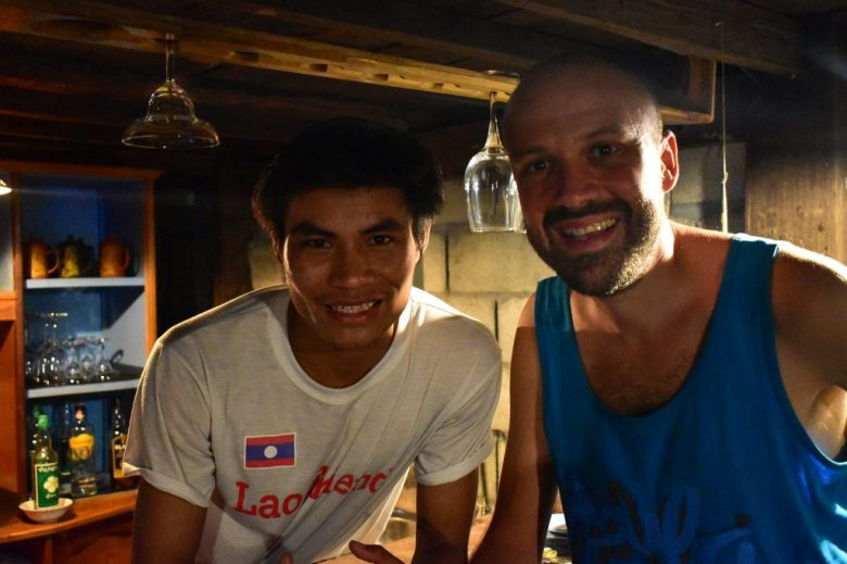 Akeo, the owner of Lao Friend Bar, Luang Prabang, Laos