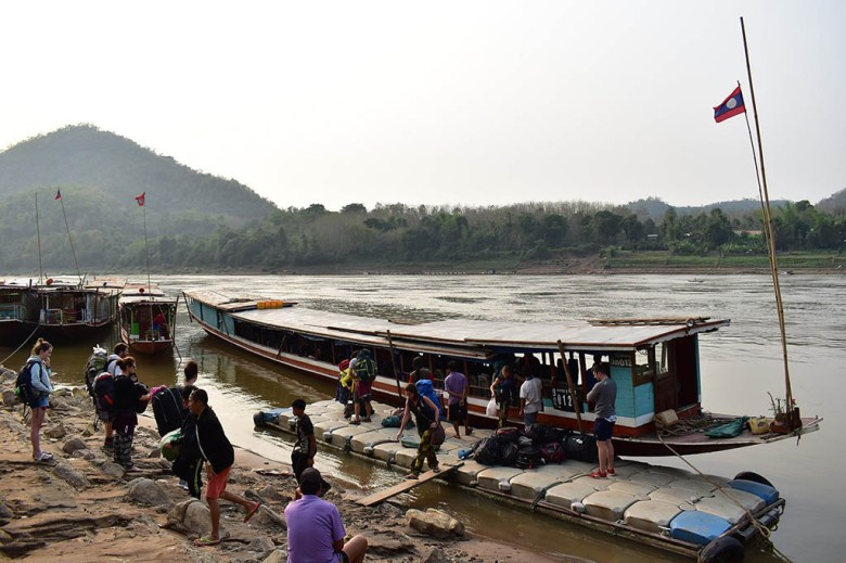 Slow boat to Luang Prabang: arrival at final port