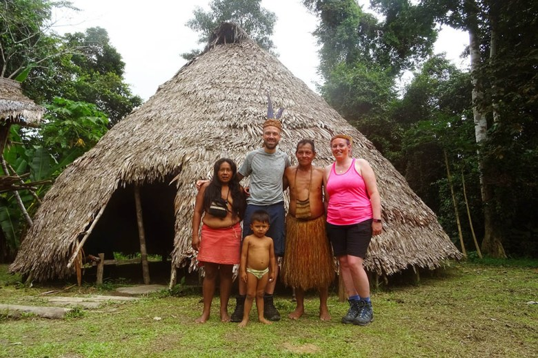 Meeting an indigenous jungle tribe in the Peruvian Amazon