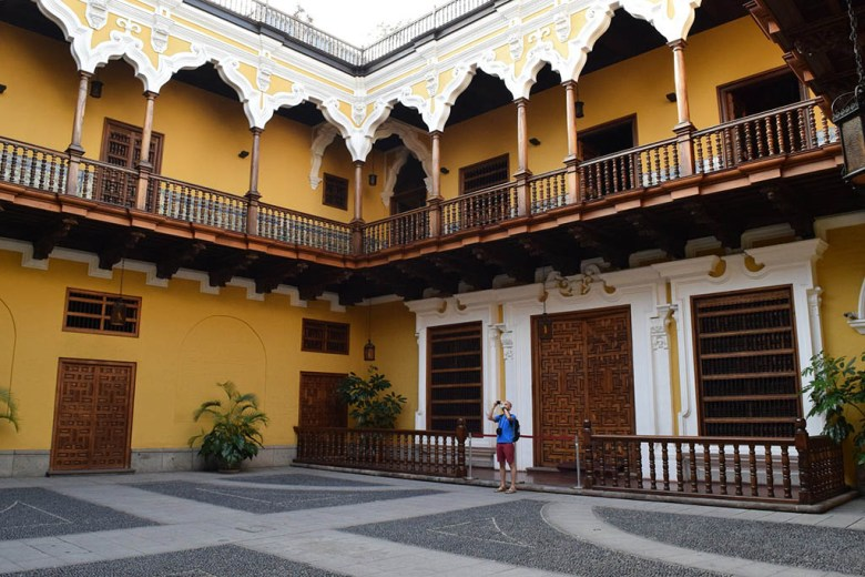 What to do in Lima: inside the lower grounds of Palacio Torre Tagle