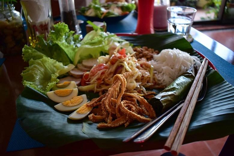 Salad at Lin's Cafe Savannakhet