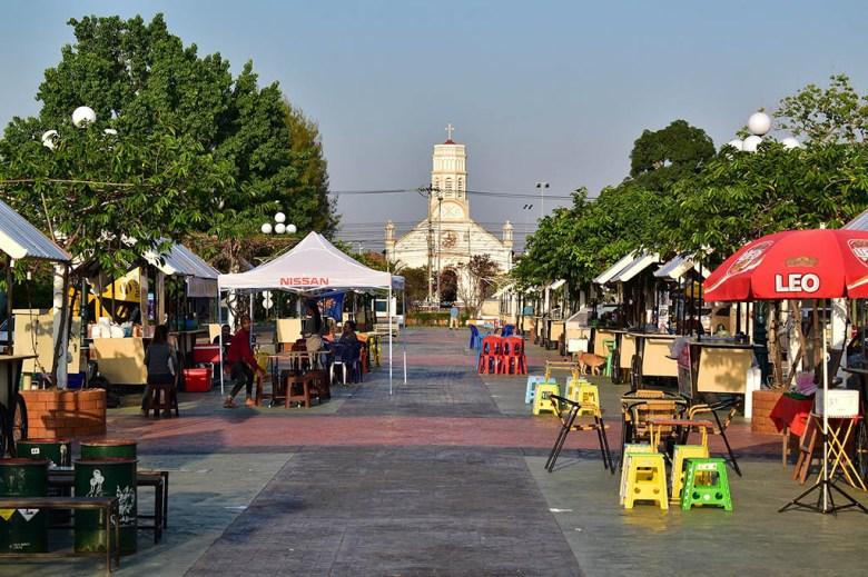 St Teresa Catholic Church Savannakhet night market