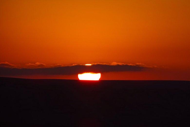 Huacachina fiery sunset Peru