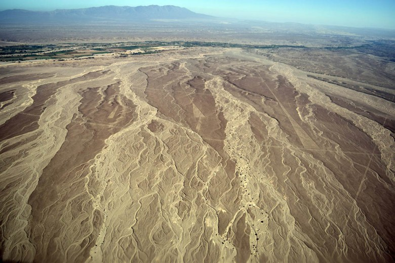 Nazca Desert scenery from the air